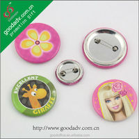 Low price custom design 50mm tin metal badge