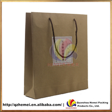 100% Recycled Kraft Shopping Bags with Rope Handles