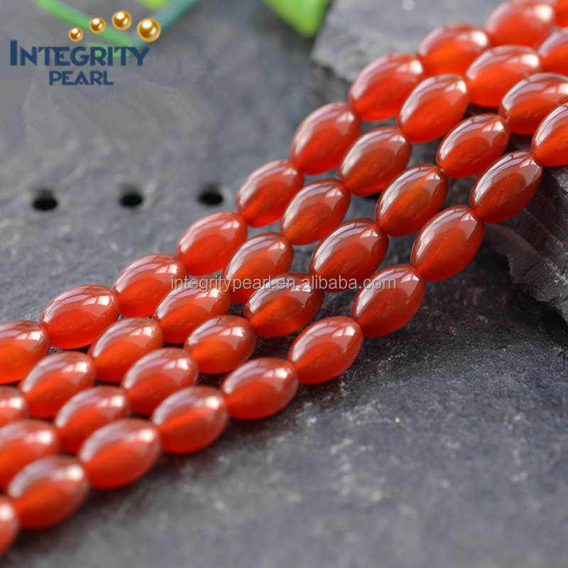 Natural loose gemstone beads red rice agate