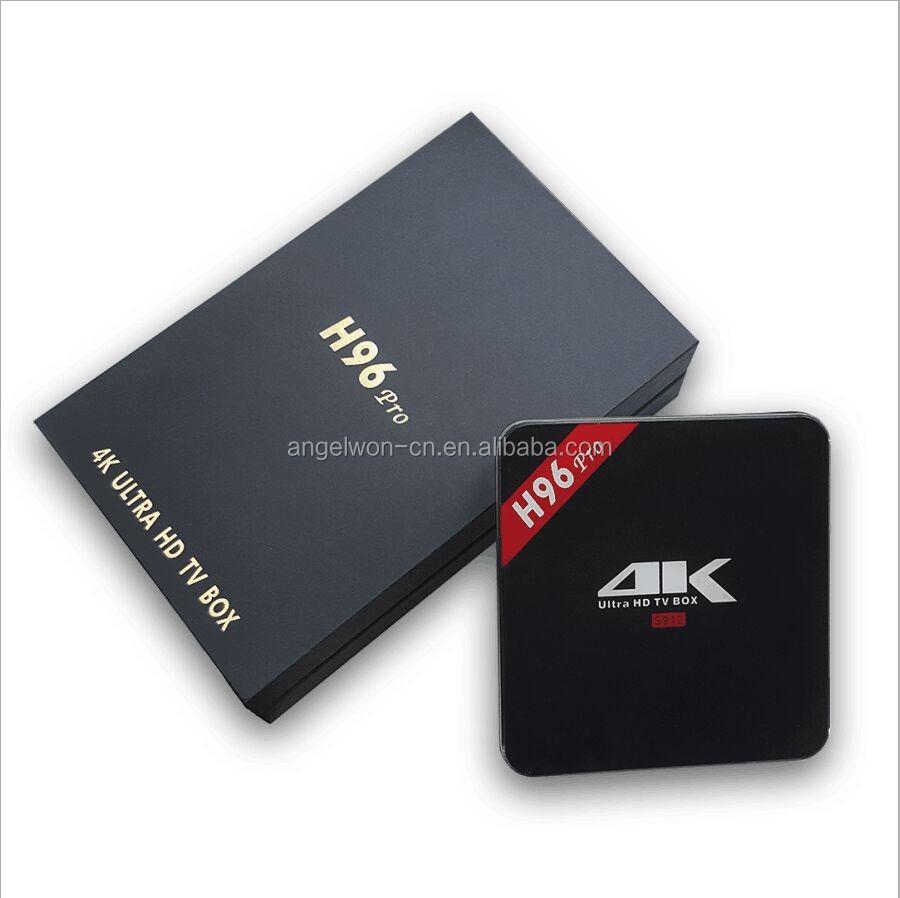 2017 Shenzhen Android 7.1 Caixa de TV Inteligente H96 PRO Amlogic S912 3G 16G receptor de Tv bluetooth Wi-fi AC HD set top box