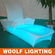 Nightclub Event LED beach sofa bed Show Plastic LED beach sofa bed Furntiure