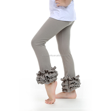 Heather Grey Leggings with tripe Ruffles Baby Girls Leggings
