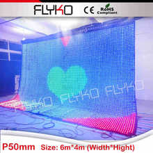EastSun China Newest Product Colorful Led Star Curtain for wedding events/big commercial facade advertising led curtain wall