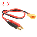 Best Price 16AWG 25cm XT60 Connector to Banana Plug 4mm Battery Connectors Charger Cable Adapter For Vehicle Remote Control Toys
