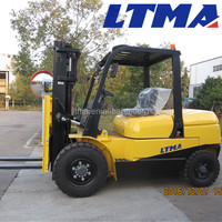 hydraulic system 5 ton forklift with 3-stage mast