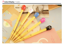 New design cute cartoon smile face match shape push ball point pen
