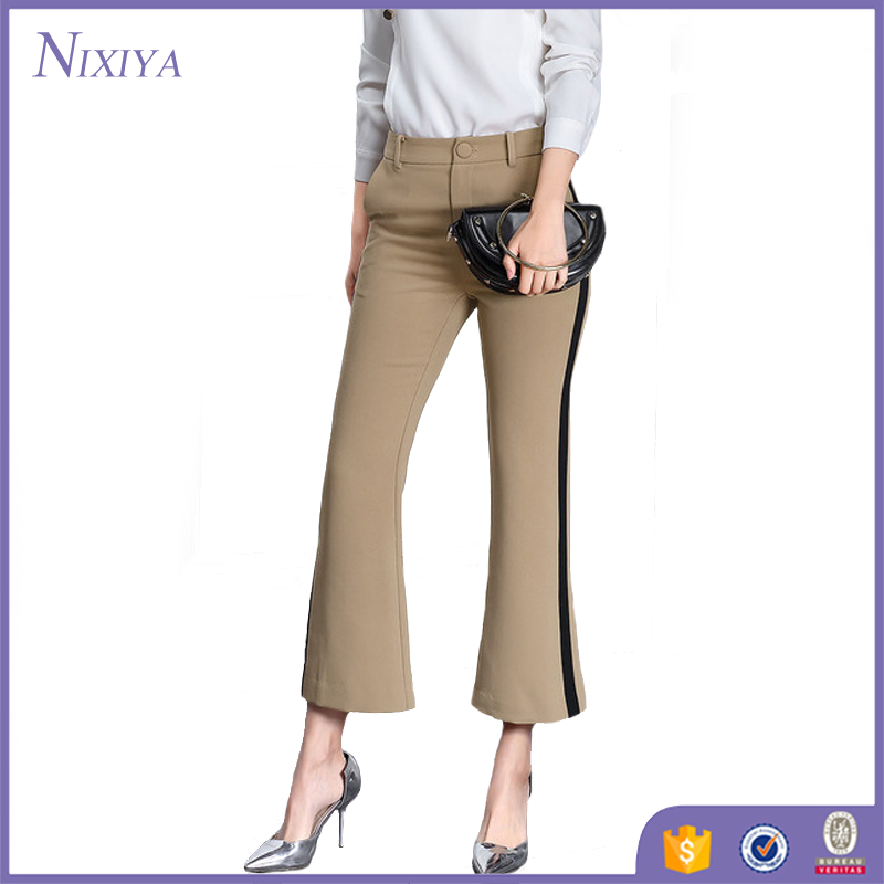 Cheap Office Long Khaki Pants, Vertical Stripe Pants For Ladies, Wholesale Trousers Pants