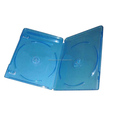 Plastic double blu-ray dvd case