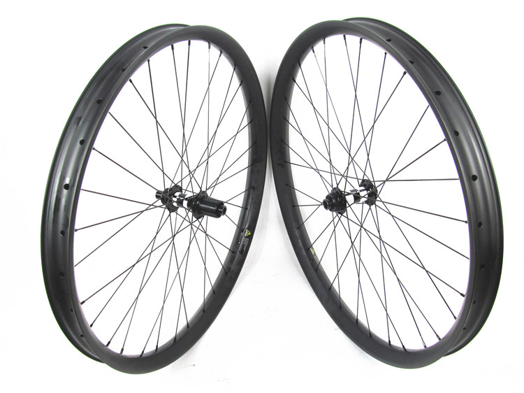 MTB Carbon boost wheelset, 29er carbon mountain bicycle wheels 50mmx25mm clincher DT 350S Boost hub Thru Alxe 15*110 / 12*148