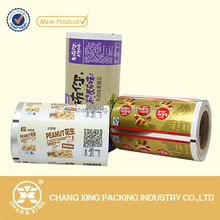 Multilayer printing food flexible packaging plastic roll film for packing peanut/snack/candy