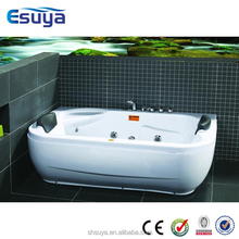 Corner massage bath tub,acrylic material,multifunction shower head and jet, small bathtub