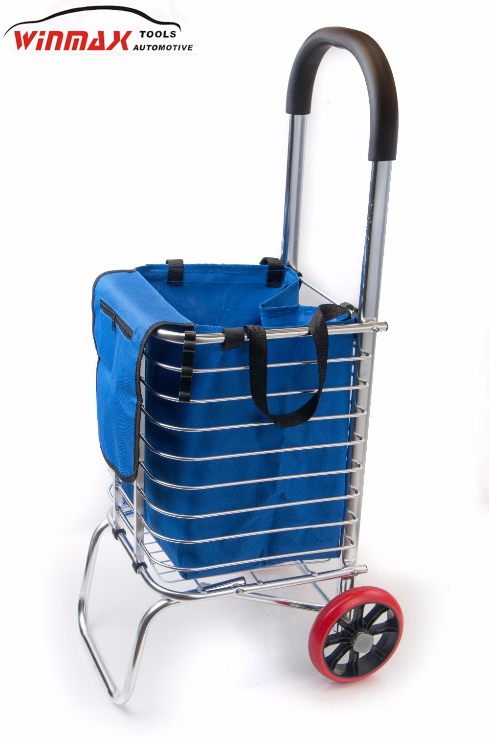 Portable ALU. Folding Shopping Carts With Rubber Wheels
