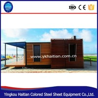 Prefabricated wooden bungalow house prefab log ready made wood frame house poland easy assembly kit homes made in china