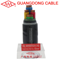 VV22 4X185+1X95 low voltage underground power cable cord copper 5 core armored cable wire conductor power cable