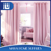 Promotional cheap custom fashionable beautiful lace window curtains