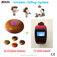 customer call system call waiter patient nurse call system wireless 433mhz cheap price wrist watch Service bell