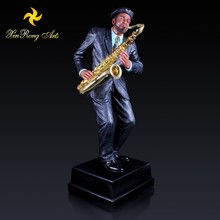 115cm height resin musical statue large size polyresin figurines saxophone jazz musician