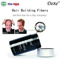 Dexe hair extension fiber keratin micro fibers for hair hair building fiber OEM