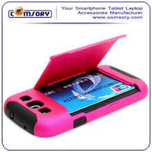 for Samsung Galaxy S3 SIII i9300 Protective Skin Case Cover Shell Credit Card Holder and Stand