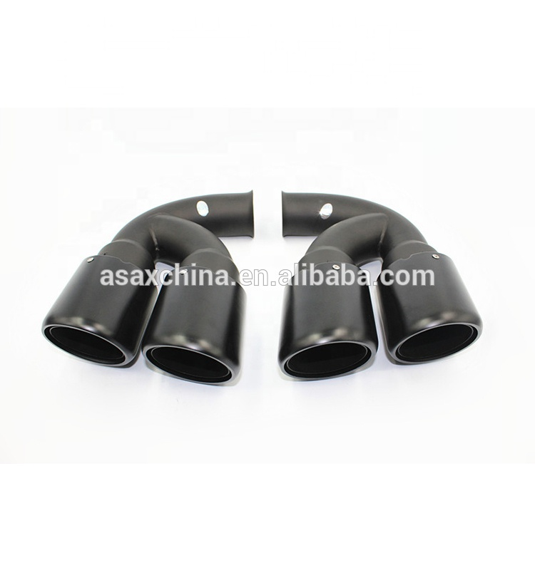 High Quality Turbo GTS 958 Sport V6 V8 Exhaust tips, V6 V8 <strong>Muffler</strong> Tail Tip For Porsche Cayenne 11~14 years