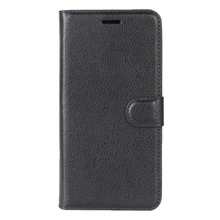 For Motorola Moto E4 (US Version) Litchi Texture Horizontal Flip Leather Case with Holder & Card Slots & Wallet