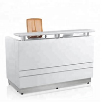 High Quality standard size Office Modern white color small cheap reception desk