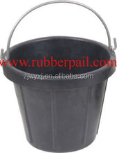 Tyre rubber bucket industry buckets cement pail Rubber pail with steel handle