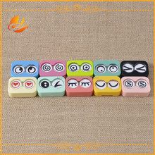 Person care expression pattern fashion contact lens case