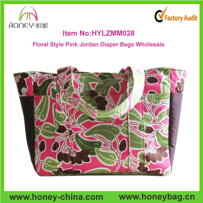 2014 Hot Sale Modern Pink Jordan Diaper Bags Wholesale