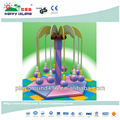 Popular electric indoor playground rotating coconut tree
