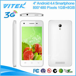 Alibaba Website 4.0'' 5MP Camera New MTK6582M Android phone 1GB RAM