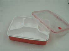 Sealable 4 compartment pp plastic leakproof bento lunch box