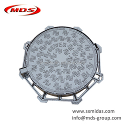 ductile cast iron DCI water tank truck manhole cover