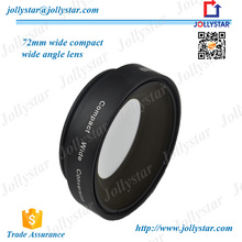 Universal Clip Lens With 72mm 0.8X Fisheye Lens Wide Angle Lens Macro Lens Camera Lens