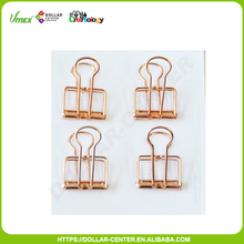 4pk 40*20mm office rose gold metal wire clips