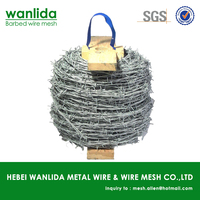 Low carbon steel galvanized barbed wire installation ( SGS Certification )