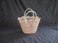 By a healthy material crochet basket cheap