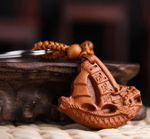 dragon boat crafts key chain ancient chinese culture
