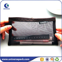 Wholesale custom nylon mesh pencil pouch with zipper