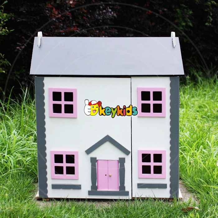 wholesale kid wooden mini doll house, cheap baby wooden mini doll house, popular children wooden mini doll house W06A154