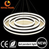 220w aluminum 3 circles suspension pendant lighting, acrylic ring modern hanging led pendant lights