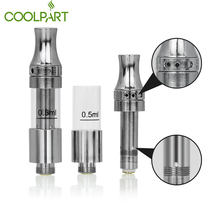 Latest Ceramic Coil Atomizer Glass Cartridge 0.5ml Glass Tank 510 Original Ceramic CO2 Cartridge CP V9