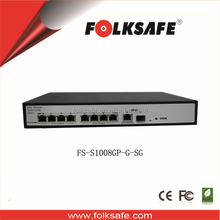 8 ports gigabit PoE ethernet switch 8 port oem 2 uplink no touchless network mini