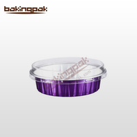 dark purple aluminum foil pudding/mousse/tiramisu/fruit tower/fruit pie cup AP080