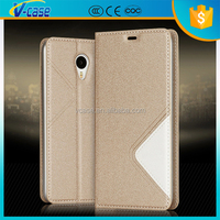 Factory wholesale price Wallet leather flip mobile phone cover case for vivo v1
