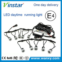 1W*10LED 10W Car Led Daytime Running Light Aluminum Grill Car Flexiable DRL led Auto Driving Light With