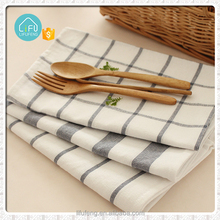 Yarn Dyed Plain Cotton Tea Towel Set for Kitchen