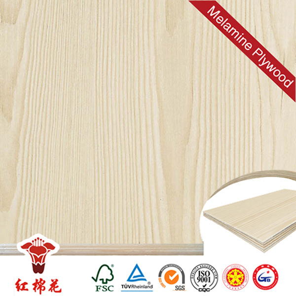 Hot selling prefinished vienna oak veneered panel/commercial plywood factory