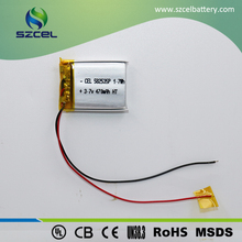 3.7V 470mAh LiCoO2 thin shape light weight flat cell rechargeable li-polymer battery