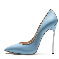 blue high heel funky pumps transparent ladies shoes